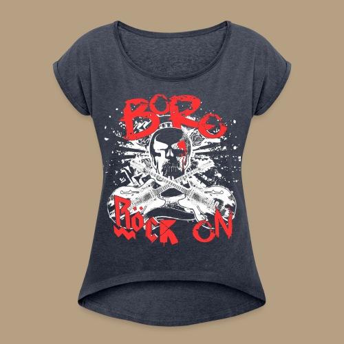 RöckOnRed - Frauen T-Shirt mit gerollten Ärmeln