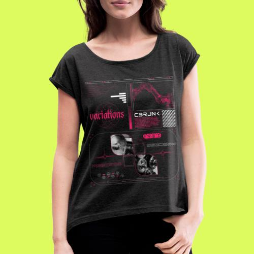 VR8 PNK - Women's T-Shirt with rolled up sleeves