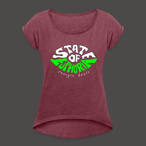 SOE logo - Women's T-Shirt with rolled up sleeves