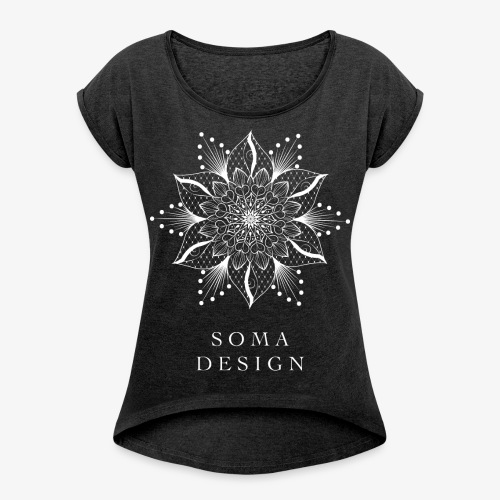 Your Inner Eye Logo - Women's T-Shirt with rolled up sleeves