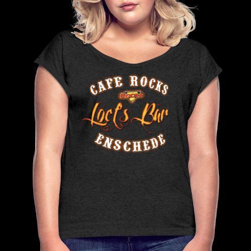 Loet's Bar (shaded) - Vrouwen T-shirt met opgerolde mouwen