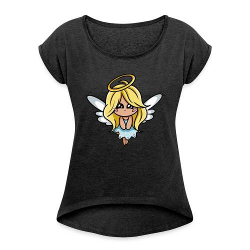 Ange Kawaii - T-shirt à manches retroussées Femme