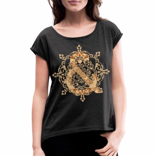 Escudo natural & ... - Camiseta con manga enrollada mujer