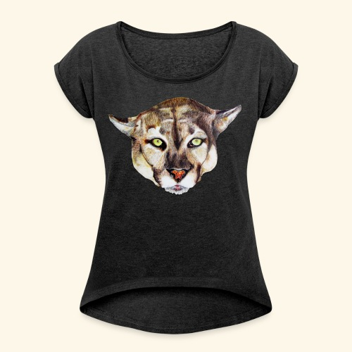 Artistic wild animal - Women's T-Shirt with rolled up sleeves