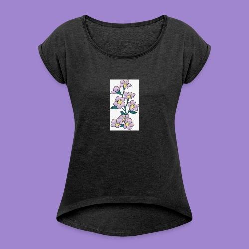 Violettes - T-shirt à manches retroussées Femme
