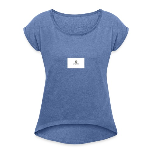 peng_parra - Dame T-shirt med rulleærmer
