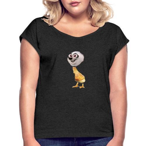 girandosaurus - T-shirt med upprullade ärmar dam