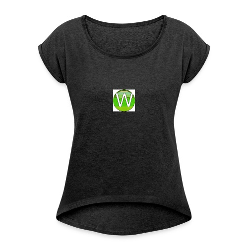 Alternate W1ll logo - Women's T-Shirt with rolled up sleeves
