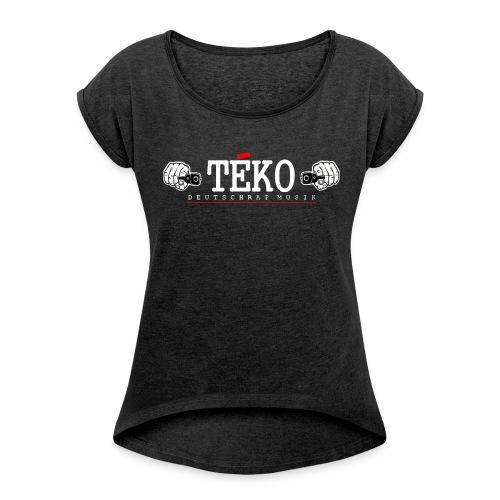 TEKO - Frauen T-Shirt mit gerollten Ärmeln