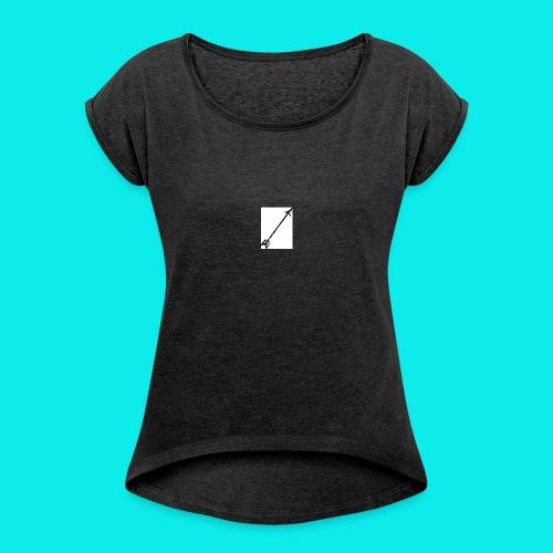 Pfeil - Frauen T-Shirt mit gerollten Ärmeln