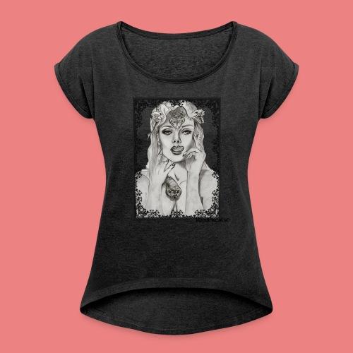 moodcreativo0 - Maglietta da donna con risvolti