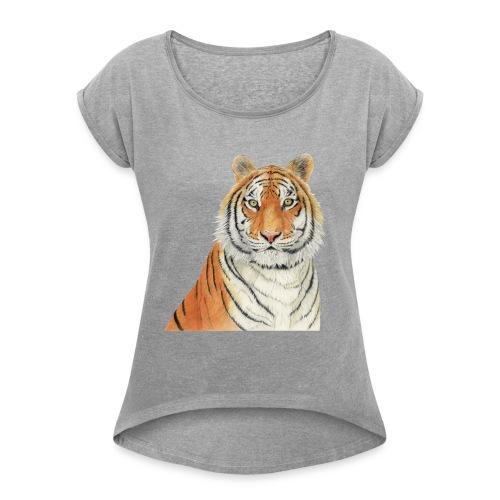 Tigre,Tiger,Wildlife,Natura,Felino - Maglietta da donna con risvolti