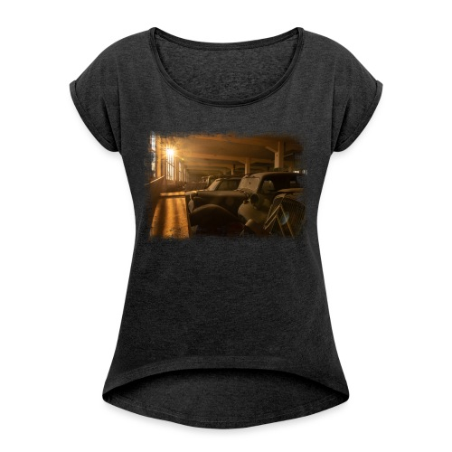 Olditimer Sunset - Frauen T-Shirt mit gerollten Ärmeln