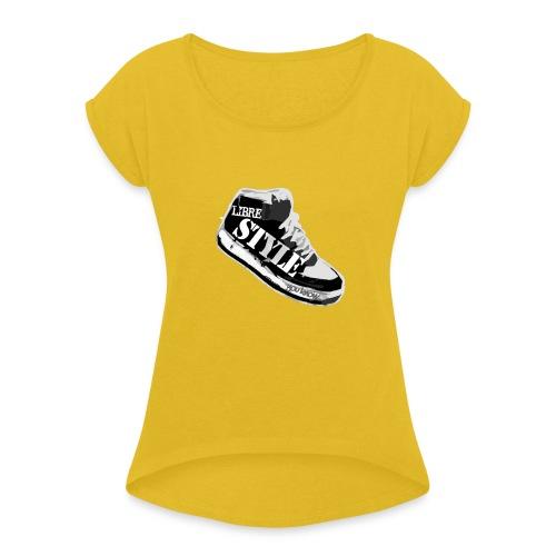 LS B N png - T-shirt à manches retroussées Femme
