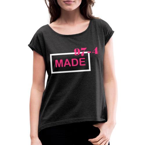 Design made in 974 - T-shirt à manches retroussées Femme