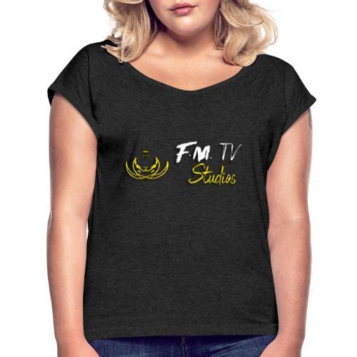 FM TV STUDIOS PREMIUM - Camiseta con manga enrollada mujer