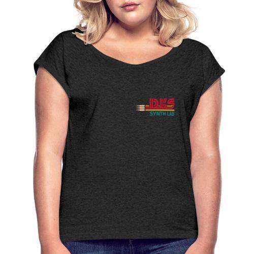 DKS SYNTH LAB Flat Red-Green - Maglietta da donna con risvolti