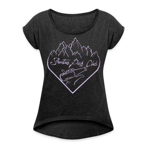 logo1 - T-shirt à manches retroussées Femme