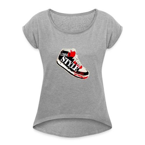 LS ROUGE png - T-shirt à manches retroussées Femme