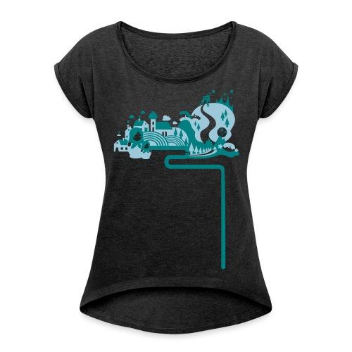 vasalisa neu - Frauen T-Shirt mit gerollten Ärmeln
