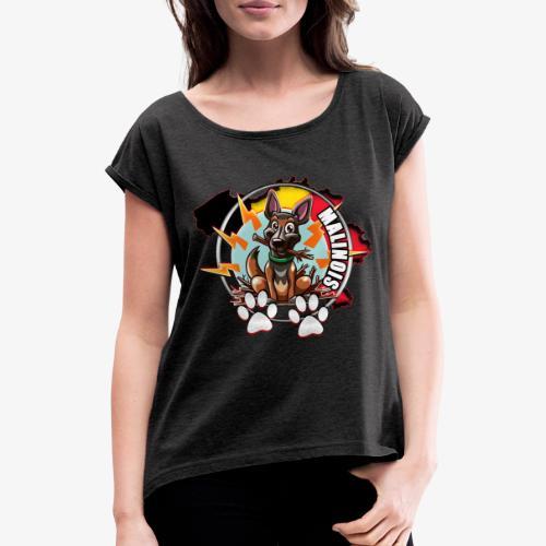 malinois - T-shirt à manches retroussées Femme