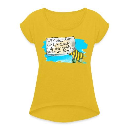 Janosch Tigerente Wer Das Liest Spruch - Frauen T-Shirt mit gerollten Ärmeln