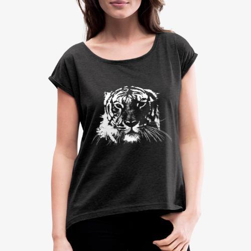 WHITE TIGER - Camiseta con manga enrollada mujer