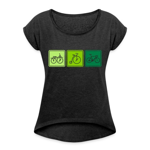 Bike Evolution - Women's T-Shirt with rolled up sleeves
