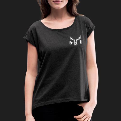Kraftstaette - Frauen T-Shirt mit gerollten Ärmeln