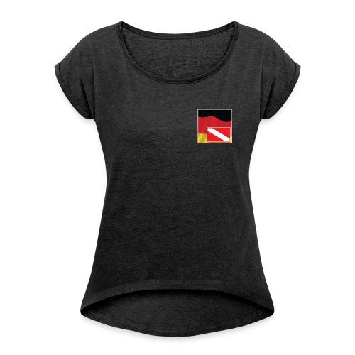 Tauchrevier Deutschland newStyle - Frauen T-Shirt mit gerollten Ärmeln