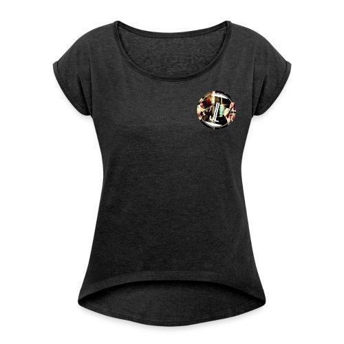 LOGO Jasmin Louis png - Frauen T-Shirt mit gerollten Ärmeln