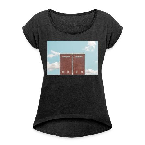 Hauptbahnhof - Frauen T-Shirt mit gerollten Ärmeln
