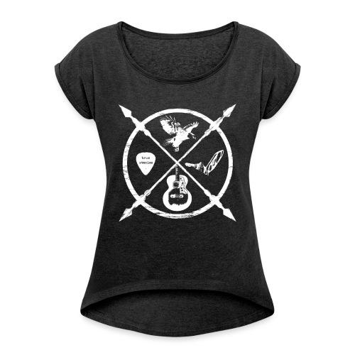 Jack McBannon - Cross Symbols - Frauen T-Shirt mit gerollten Ärmeln