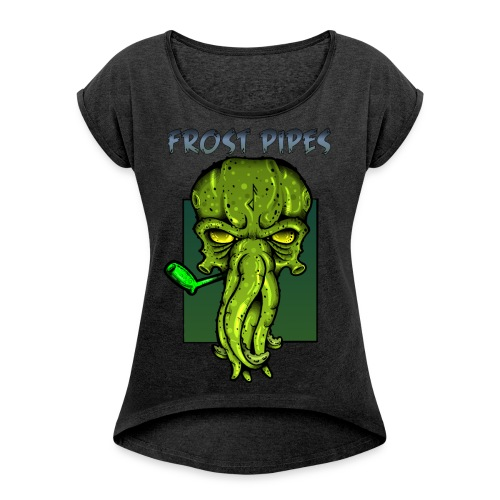 The Call of Cthulhu - Women's T-Shirt with rolled up sleeves
