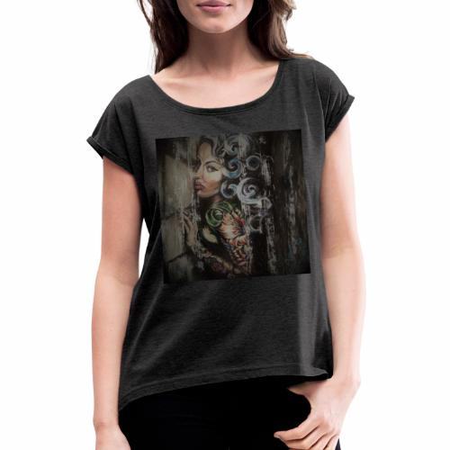 Butterfly Sugar Baby Burlesque - Women's T-Shirt with rolled up sleeves