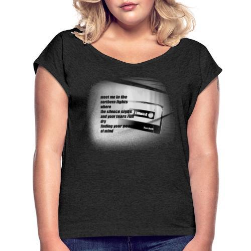 TRUE NORTH TEE - Frauen T-Shirt mit gerollten Ärmeln