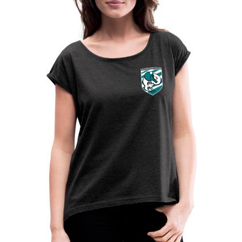 LTTV Wappen - Frauen T-Shirt mit gerollten Ärmeln
