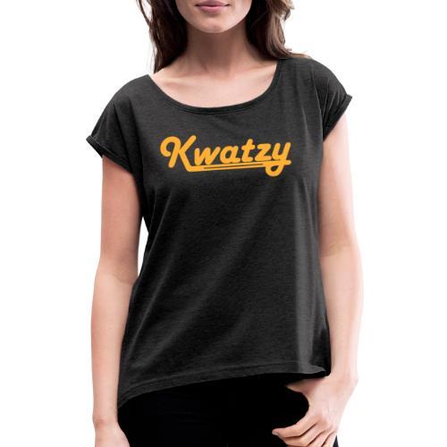 Kwatzy - T-shirt med upprullade ärmar dam