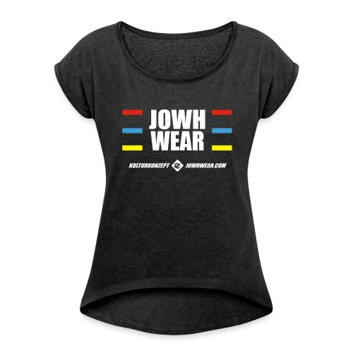 James - JOWHWEAR Original - Frauen T-Shirt mit gerollten Ärmeln