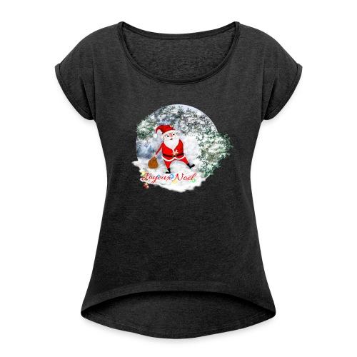 Noël - T-shirt à manches retroussées Femme