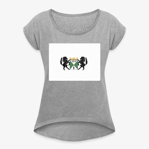 emmen - Vrouwen T-shirt met opgerolde mouwen