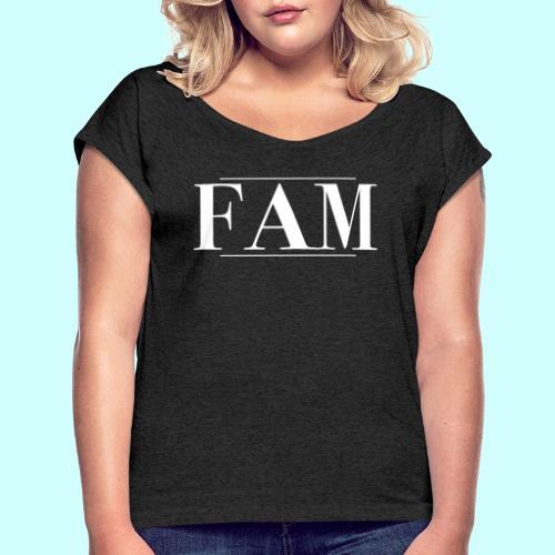 FAM merchandise #1 - Frauen T-Shirt mit gerollten Ärmeln