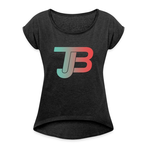 TJB Logo Gradient - Frauen T-Shirt mit gerollten Ärmeln
