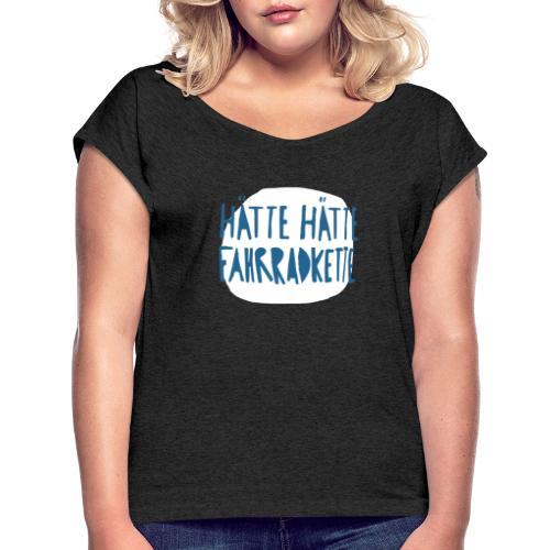 Kette - Frauen T-Shirt mit gerollten Ärmeln
