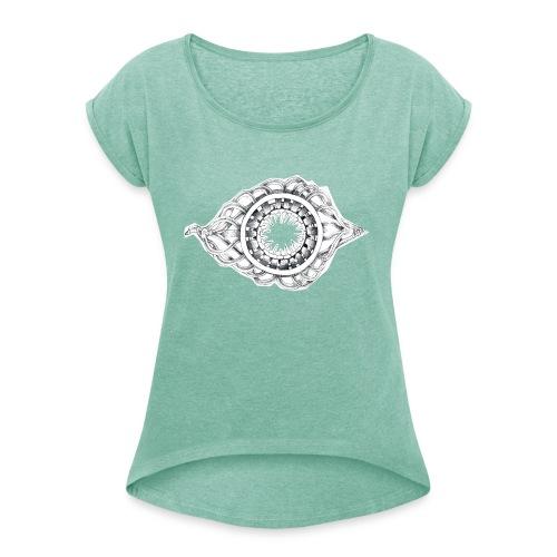 okulus - Maglietta da donna con risvolti