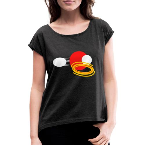Crimson Power - Women's T-Shirt with rolled up sleeves