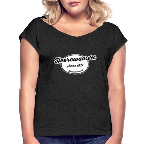 Heerewaarden 2 - Vrouwen T-shirt met opgerolde mouwen