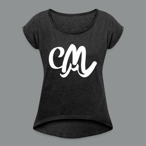 Kinder/ Tiener Shirt Unisex (voorkant) - Vrouwen T-shirt met opgerolde mouwen