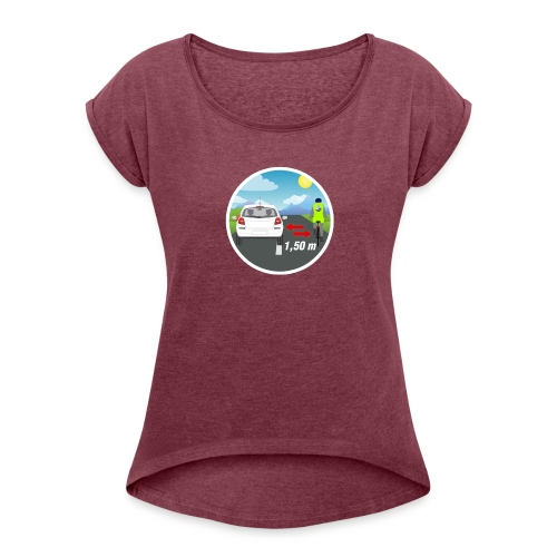 PANNEAU VELO 1M50 - T-shirt à manches retroussées Femme