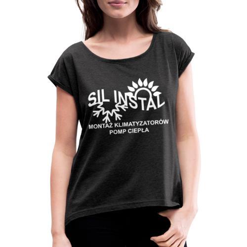 sil instal - Koszulka damska z lekko podwiniętymi rękawami